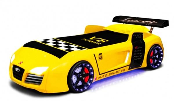Turbo V8 in gelb