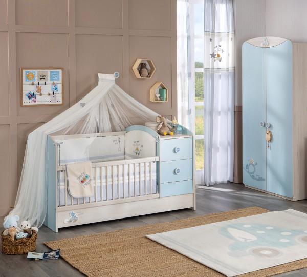 Himmelvorhang / Mosquitonetz für BABYBLUE Babybett