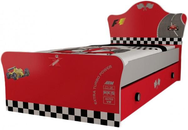 "Standardbett ""Turbo"" rot 90x200cm AUSLAUF"