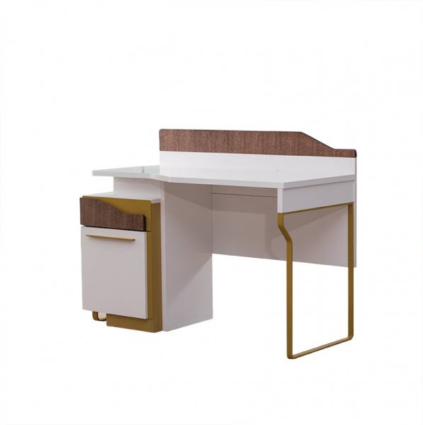 Schreibtisch MOCKA weiß, braun
