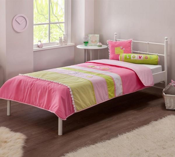 Tagesdecke-Set PRINCESS SL rosa, 3-teilig