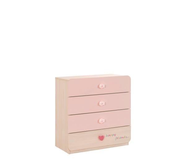 Wäschekommode Babygirl in rosa für Babyzimmer von cilek