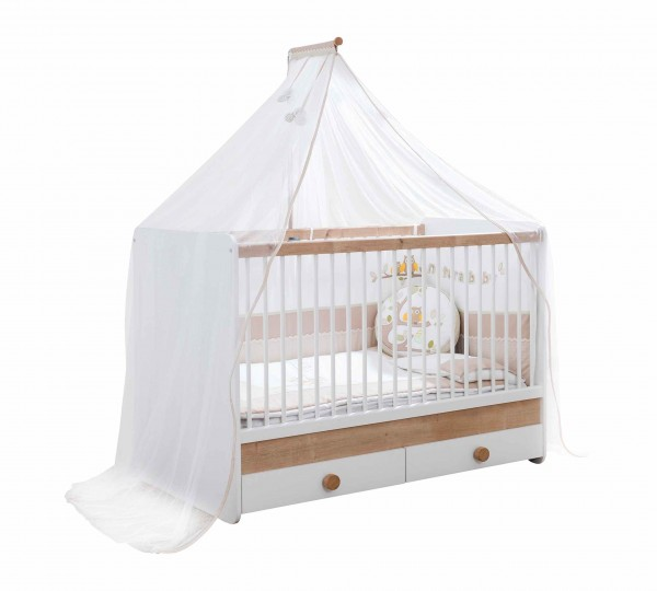 umbaubares Babybett BABYNATURA mit Bettschubkasten, 4-teilig