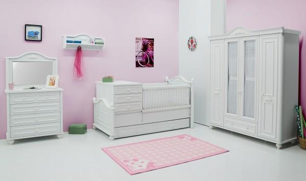 Sparset 5 tlg. Babyzimmer BABYBELLA weiss