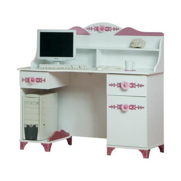Schreibtisch PRETTY mit Aufsatz rosa