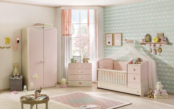 SPAR-SET Babyzimmer Babygirl rosa, 5-teilig