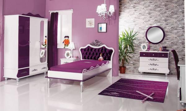 Kinderzimmer Komplett ANASTASIA 1 lila - Sparset 5 tlg