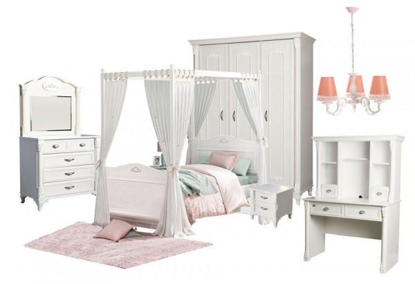 SPAR-SET8 Kinderzimmer Romantik weiß, 5-teilig