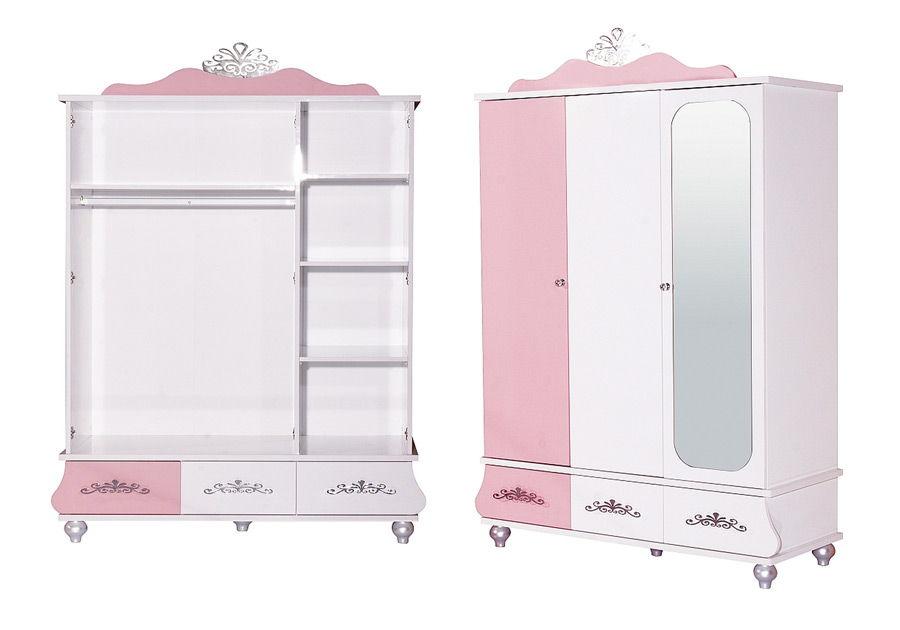 kleiderschrank anastasia in rosa f r m dchen traum m. Black Bedroom Furniture Sets. Home Design Ideas