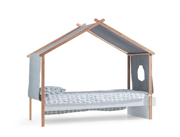 Kinderbett HOUSE DREAM mit Dachhimmel, 90x200cm