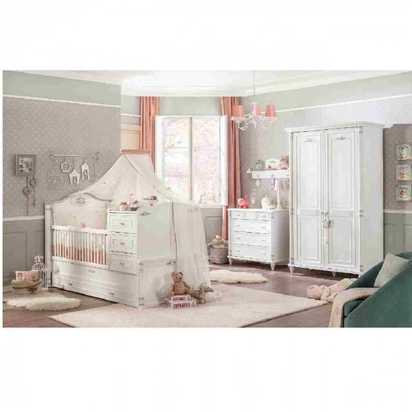 SPAR-SET Babyzimmer ROMANTIC weiß, 5-teilig