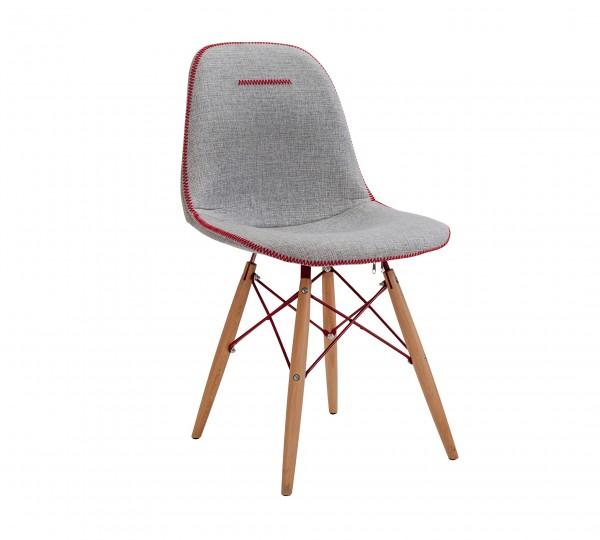 Stuhl TRINO mit Polsterung - massiv