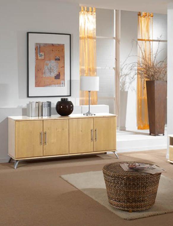 wohnzimmer sideboard bettina in kiefer natur massiv traum m. Black Bedroom Furniture Sets. Home Design Ideas