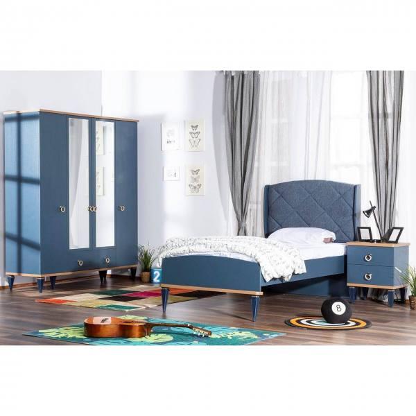 Kinderzimmer MOSS, 3-teilig mit Kleiderschrank, Bett und Nachtkonsole