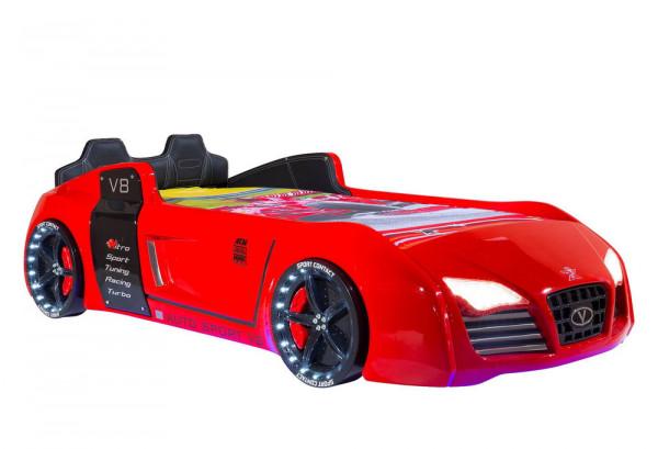 Autobett TURBO V8 SPORT rot | inkl. Sportpack ✓