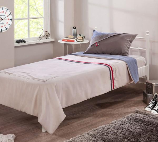 Tagesdecke TRIO für 120-140x200cm Betten inkl Tabletkissen in rot