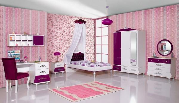 Komplett Kinderzimmer Set 9 tlg. ANASTASIA LILA 6
