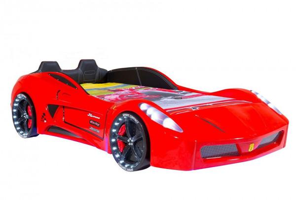 Autobett TURBO V7 SPORT rot mit Sportpack-Set