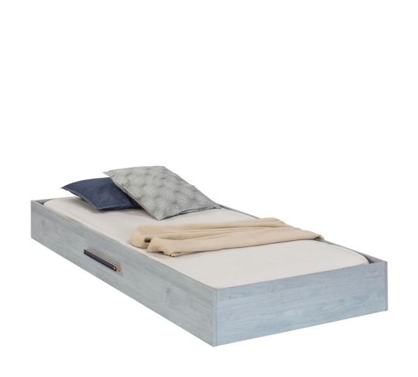Bettschubkasten TRINO blau, grau, 90x190cm