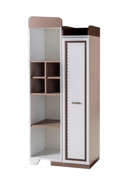 Bücherregal TREND mit Stauraum in weiss/taupe