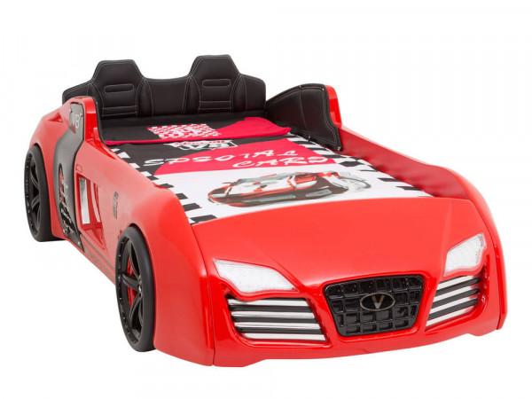 Autobett TURBO V8 SPORT rot mit Sportpack