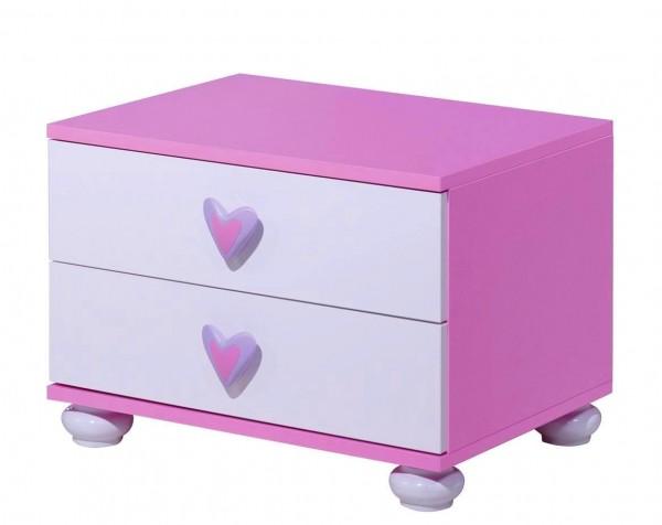 Nachtkonsole Daisy pink/weiß Auslaufmodell