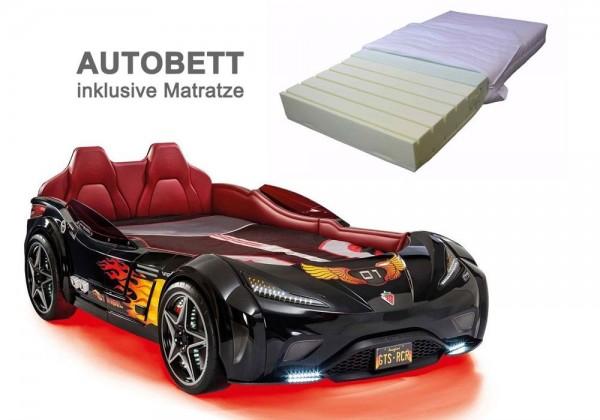 Cilek GTS SPORT Autobett schwarz mit Matratze