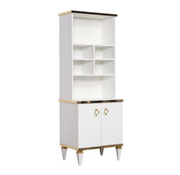 Bücherregal Rixos weiß, gold