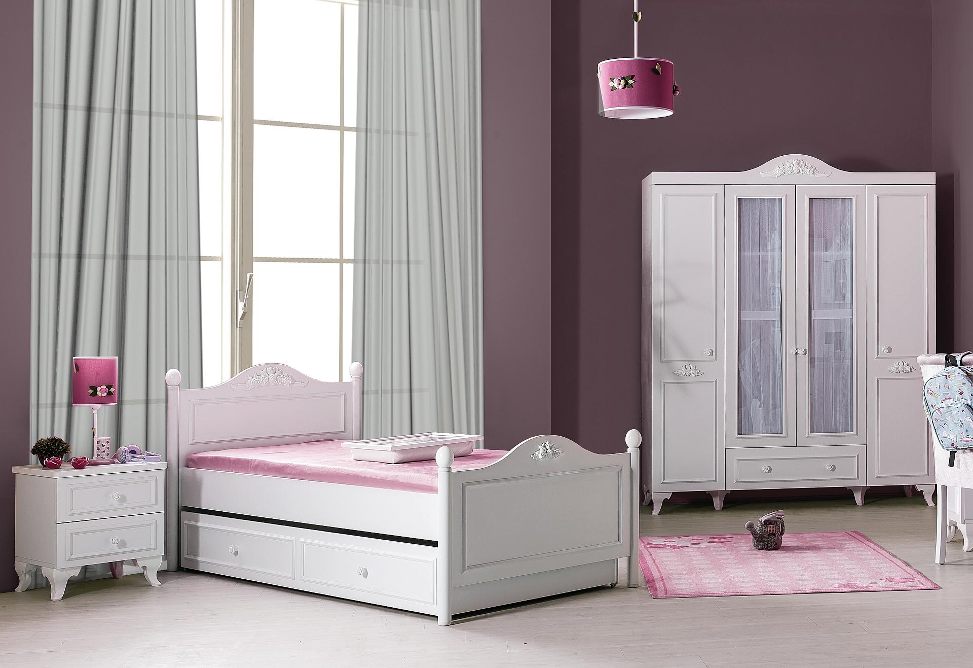kinderzimmer komplett siena 5 weiss sparset 4 tlg traum m. Black Bedroom Furniture Sets. Home Design Ideas