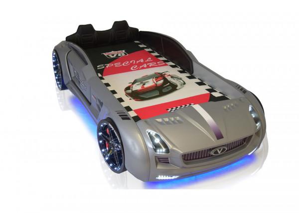 Autobett Roadster Sport in silbergrau