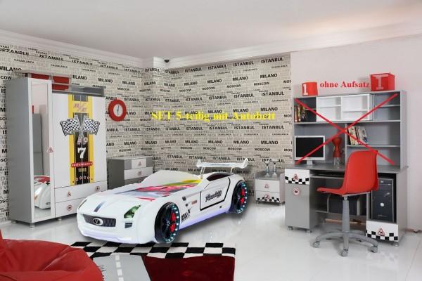 Autobettzimmer weiß Special mit Roadster Autobett 5-teilig