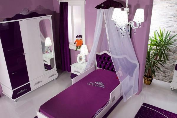 Kinderzimmer Komplett ANASTASIA 5 lila - Sparset 4 tlg