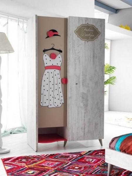 Kleiderschrank FASHION 2-trg. grau/braun