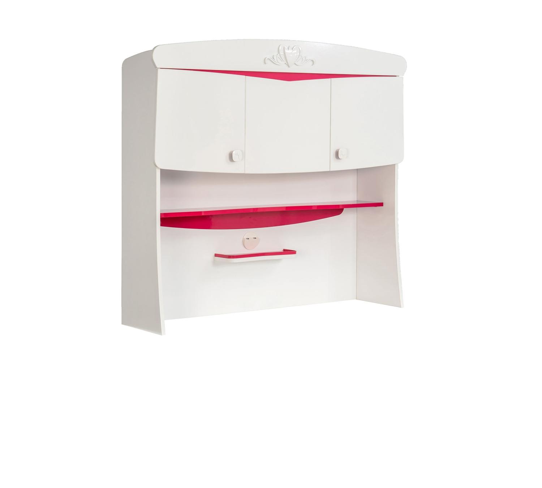 aufsatz f r schreibtisch sweety weis rot traum. Black Bedroom Furniture Sets. Home Design Ideas