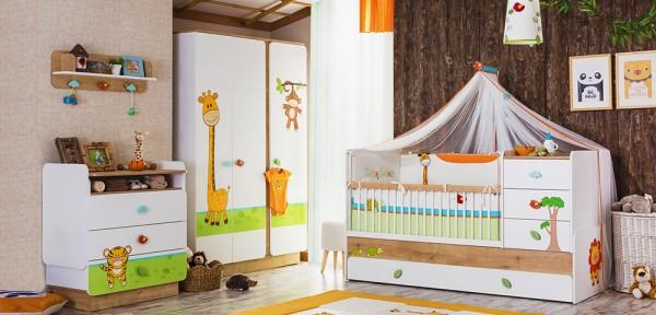Sparset 5 tlg. Babyzimmer BABYSAFARI