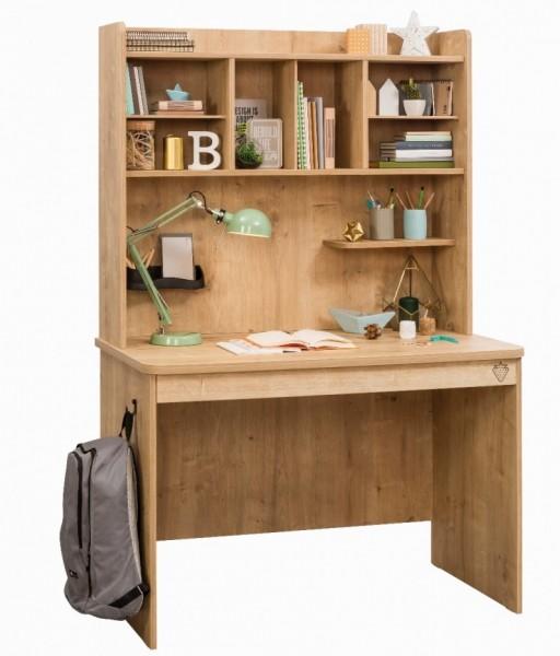 Aufsatz für Schreibtisch MOCHA natur Holzoptik