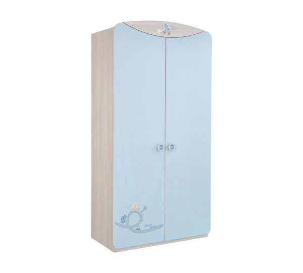 Kleiderschrank BABYBLUE blau, 2-türig
