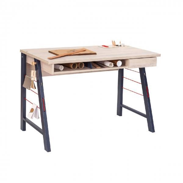 Schreibtisch TRINO M Naturholzbraun, 114 cm
