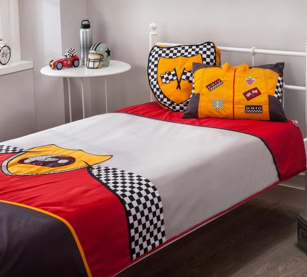 Tagesdecke-Set RACER 3-tlg. für 90/100er Betten bzw. Autobetten