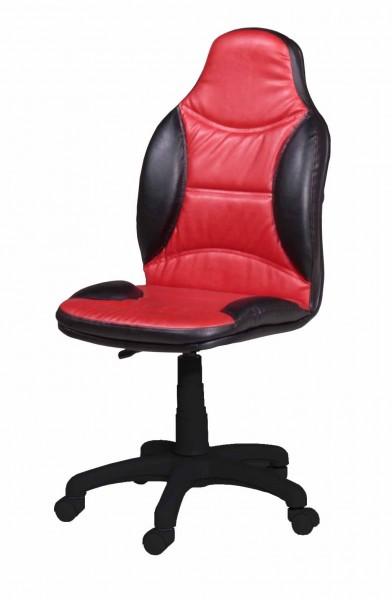 Stuhl TURBO rot/schwarz AUSLAUFMODELL
