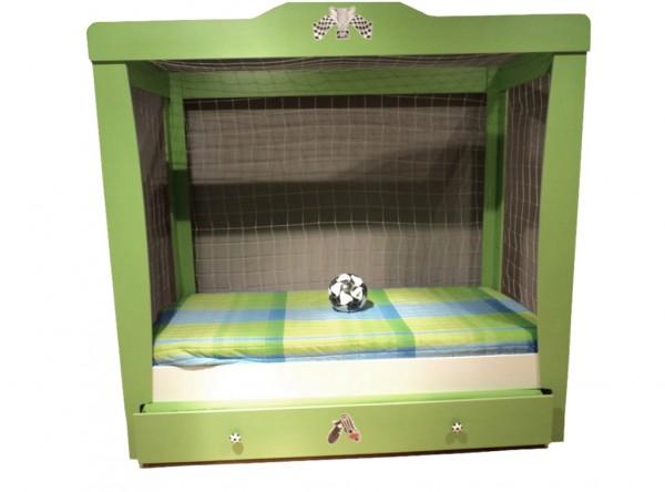 Kinder Torbett 90x200cm FOOTBALL grün