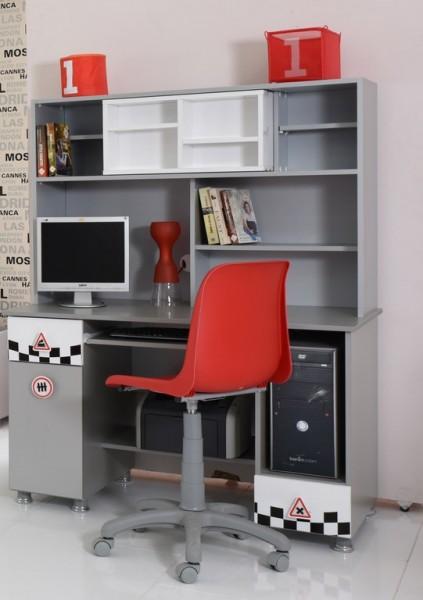 Schreibtisch mit Aufsatz SPECIAL weiß Rabatt Aktion
