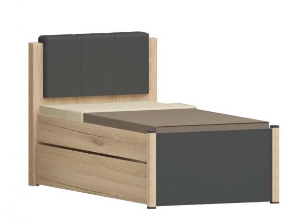 Kinderbett mit Bettschubkasten COOL, 90x200cm