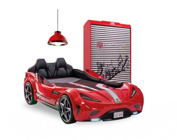 Cilek GTS rot Autobettzimmer mit Kleiderschrank, 2-teilig
