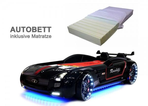 Autobett ROADSTER SPORT schwarz mit Matratze