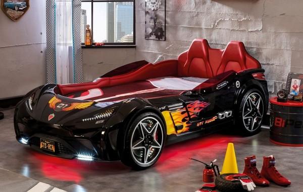 Autobett GTS SPORT schwarz mit Matratze