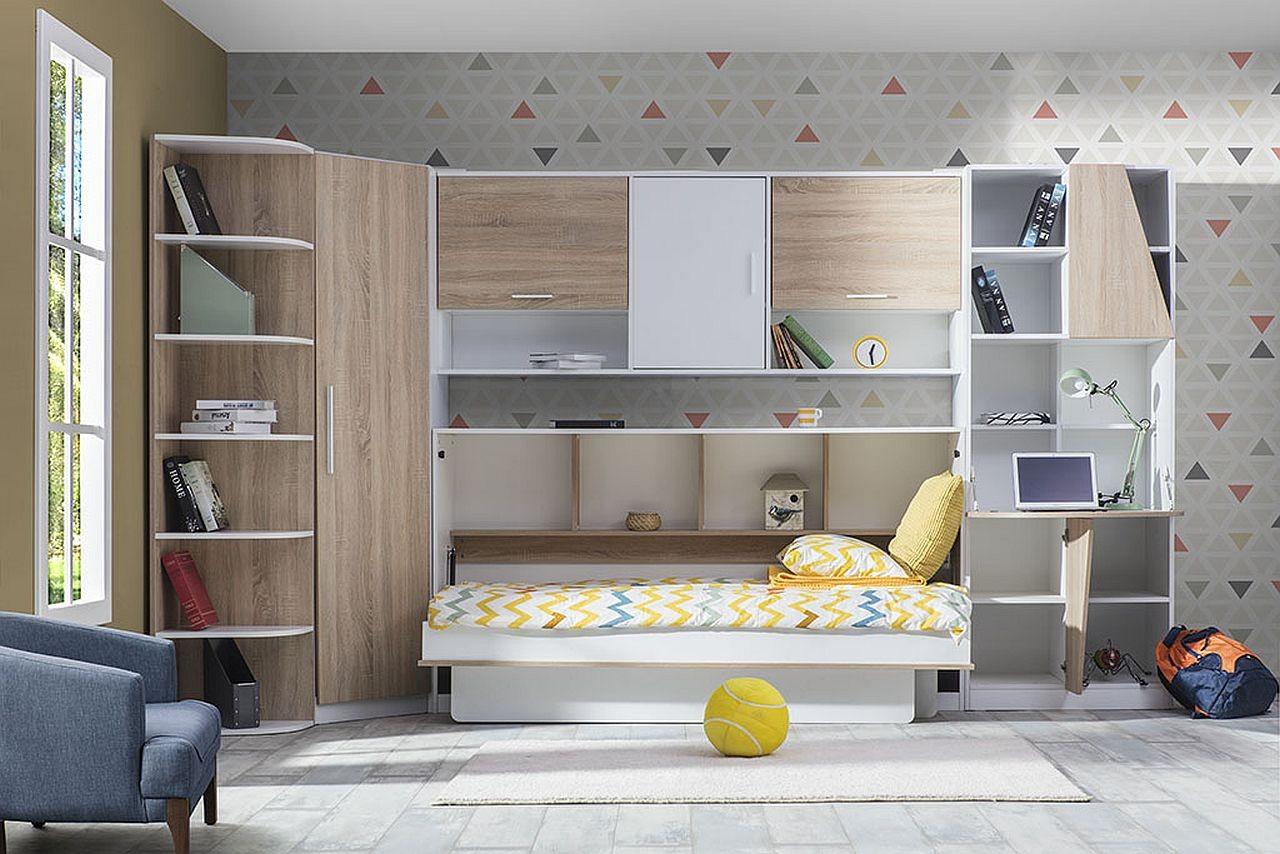 Kinder Und Studentenzimmer Mit Schrankbett Traum Mobel Com