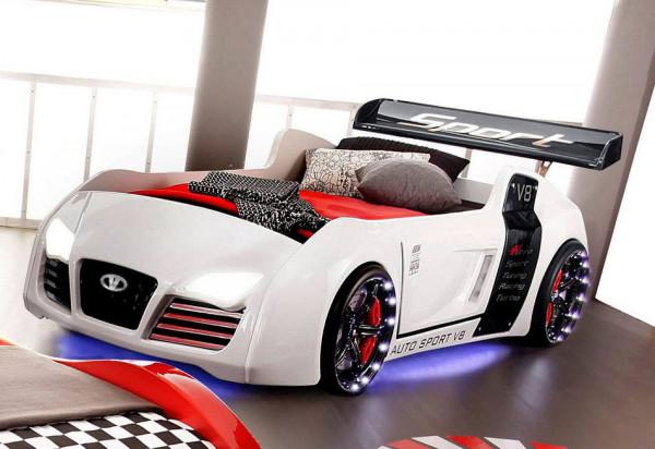 Autobettt Turbo V8 weiß classic