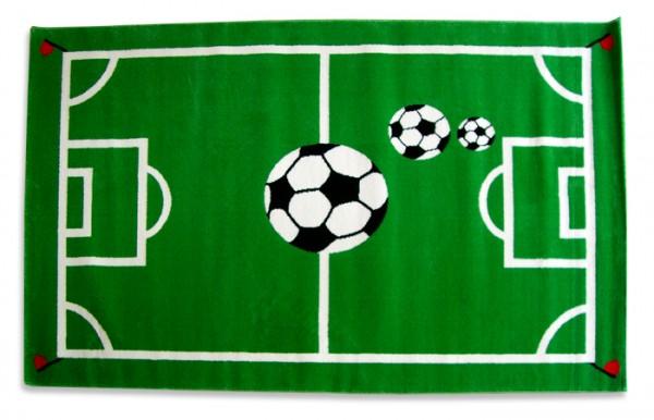 Kinderteppich FUSSBALL grün