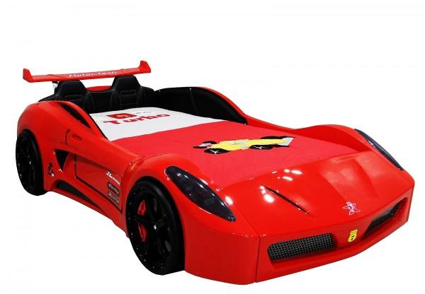 Autobett Turbo V7 CLASSIC in rot glänzend